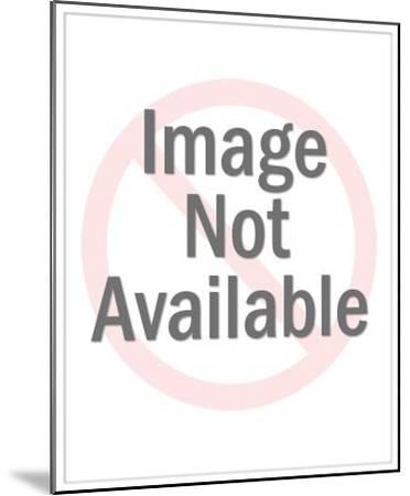 Shadowy Man Looking at Woman-Pop Ink - CSA Images-Mounted Art Print
