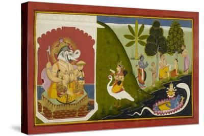 Ganesha Blessing This Endeavour--Stretched Canvas Print