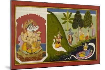 Ganesha Blessing This Endeavour--Mounted Giclee Print