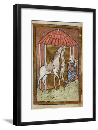 St. Cuthbert's Horse Pulls Down Bread and Meat-Bede-Framed Giclee Print