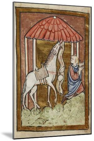 St. Cuthbert's Horse Pulls Down Bread and Meat-Bede-Mounted Giclee Print