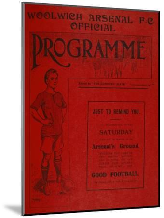 Football Programme--Mounted Premium Giclee Print