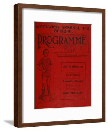 Football Programme--Framed Premium Giclee Print
