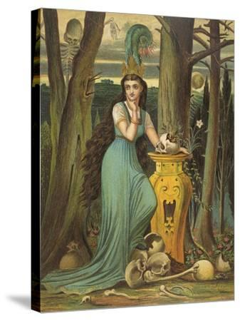 Young Woman in a Green Dress- Boyle-Stretched Canvas Print