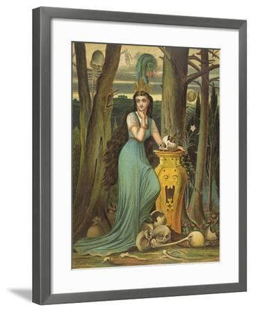 Young Woman in a Green Dress- Boyle-Framed Giclee Print