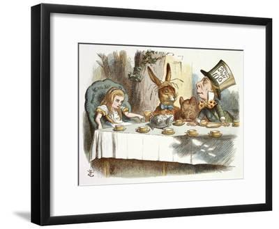 The Mad Hatter's Tea Party-John Teniel-Framed Premium Giclee Print