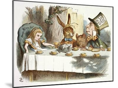 The Mad Hatter's Tea Party-John Teniel-Mounted Giclee Print