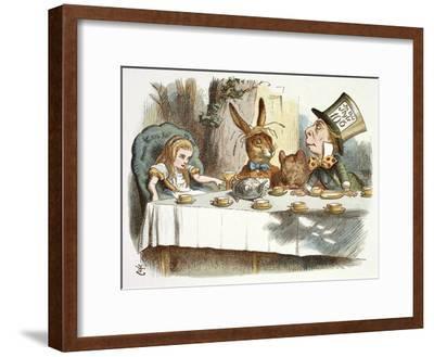 The Mad Hatter's Tea Party-John Teniel-Framed Giclee Print