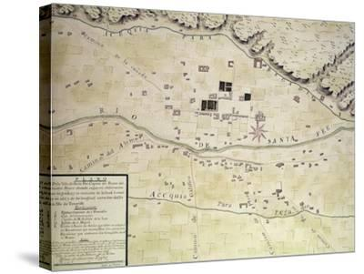Plan Of Santa Fe--Stretched Canvas Print