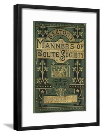 Manners--Framed Giclee Print