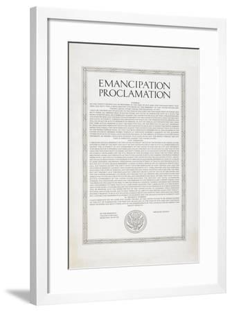 The Emancipation Proclamation. Abraham Lincoln Declares All Slaves in the United States Free--Framed Giclee Print