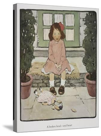 Everyday Fairy Book-Jessie Willcox-Smith-Stretched Canvas Print