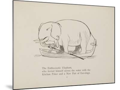 Elephant in Row Boat From a Collection Of Poems and Songs by Edward Lear-Edward Lear-Mounted Giclee Print