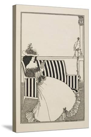 A Catalogue Cover-Aubrey Beardsley-Stretched Canvas Print