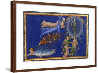 Dante and Beatrice Ascending To the Heaven Of Saturn-Dante Alighieri-Framed Giclee Print