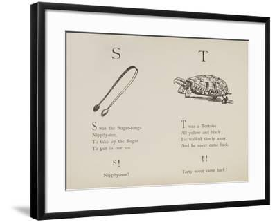 Sugar-tongues and Tortoise From Nonsense Alphabets Drawn and Written by Edward Lear.-Edward Lear-Framed Giclee Print