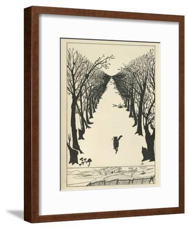 Cat Walking--Framed Giclee Print