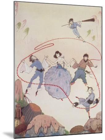 Dancing-Harry Clarke-Mounted Giclee Print