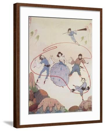 Dancing-Harry Clarke-Framed Giclee Print
