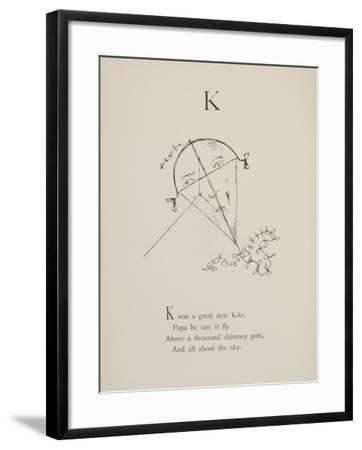 Kite Illustrations and Verses From Nonsense Alphabets Drawn and Written by Edward Lear.-Edward Lear-Framed Giclee Print