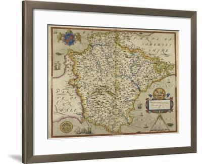 Map Of Devon-Christopher Saxton-Framed Giclee Print