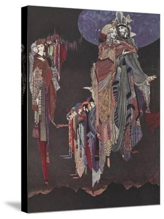 Monas and Una-Harry Clarke-Stretched Canvas Print