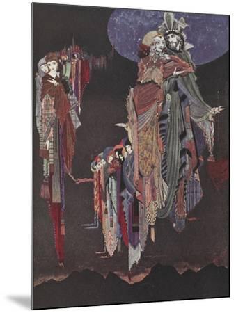 Monas and Una-Harry Clarke-Mounted Giclee Print