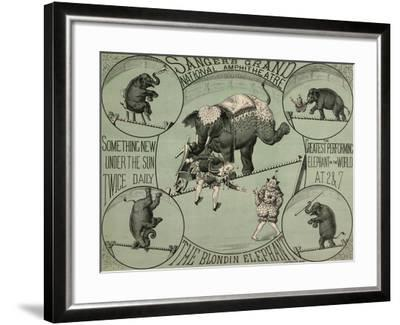 Sanger's Grand National Amphitheatre--Framed Giclee Print