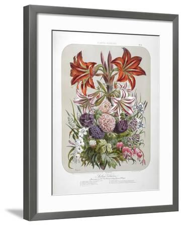 A Bouquet Of Flowers Including Lilies-Elisa Champin-Framed Giclee Print