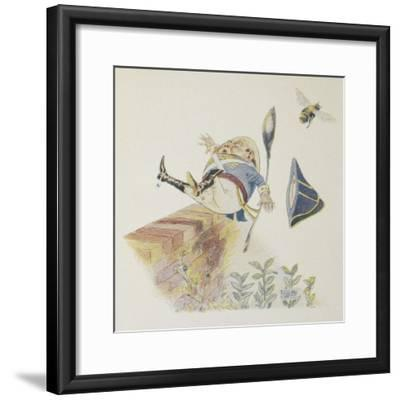 Humpty Dumpty'. Colour Illustration For a Children's Book-L. Leslie Brooke-Framed Giclee Print