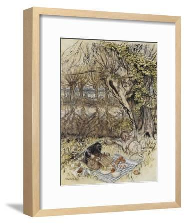 The Wind in the Willows-Arthur Rackham-Framed Premium Giclee Print