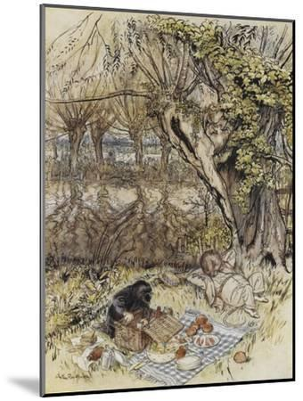 The Wind in the Willows-Arthur Rackham-Mounted Premium Giclee Print