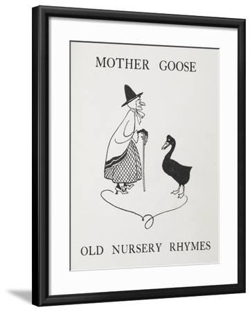 Mother Goose. Old Lady With Goose-Arthur Rackham-Framed Giclee Print