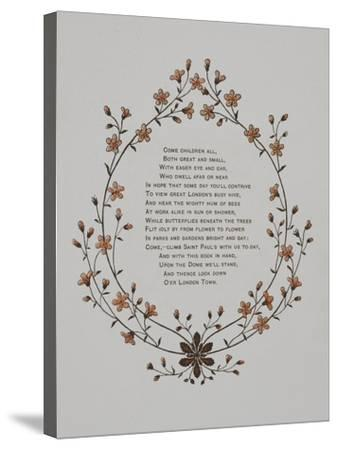 Floral Decoration and a Verse. Illustration From London Town'-Thomas Crane-Stretched Canvas Print