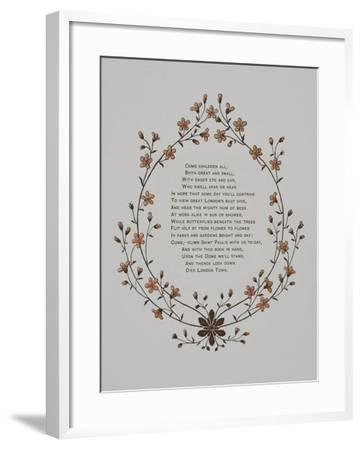 Floral Decoration and a Verse. Illustration From London Town'-Thomas Crane-Framed Giclee Print