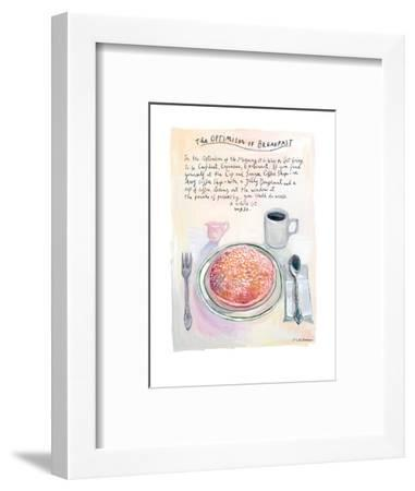The New Yorker - July 22, 2013-Maira Kalman-Framed Premium Giclee Print