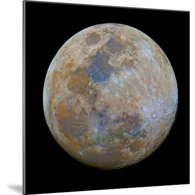 The Almost Full Moon in Color-Stocktrek Images-Mounted Photographic Print