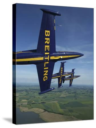 Flying with the Aero L-39 Albatros of the Breitling Jet Team-Stocktrek Images-Stretched Canvas Print