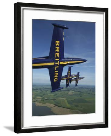 Flying with the Aero L-39 Albatros of the Breitling Jet Team-Stocktrek Images-Framed Photographic Print