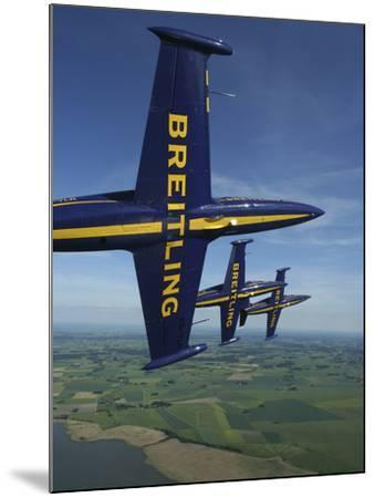 Flying with the Aero L-39 Albatros of the Breitling Jet Team-Stocktrek Images-Mounted Photographic Print