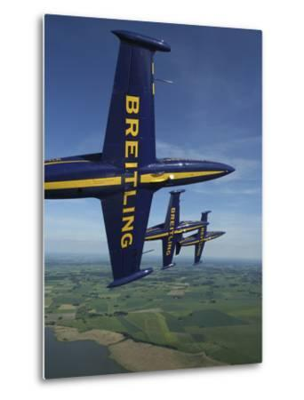 Flying with the Aero L-39 Albatros of the Breitling Jet Team-Stocktrek Images-Metal Print