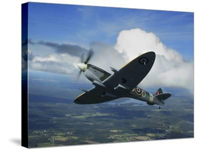 Supermarine Spitfire Mk.XVI Fighter Warbird of the Royal Air Force-Stocktrek Images-Stretched Canvas Print