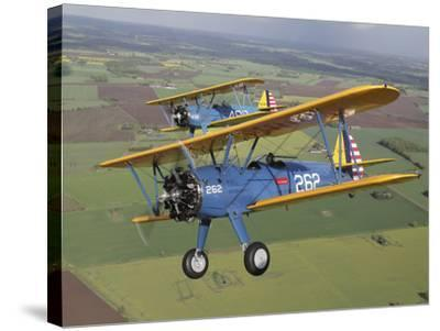 Boeing Stearman Model 75 Kaydet in U.S. Army Colors-Stocktrek Images-Stretched Canvas Print