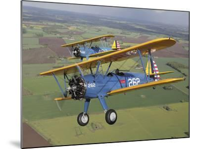 Boeing Stearman Model 75 Kaydet in U.S. Army Colors-Stocktrek Images-Mounted Photographic Print
