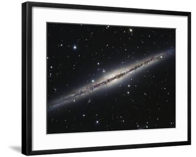NGC 891, An Edge-on Spiral Galaxy in Andromeda-Stocktrek Images-Framed Photographic Print