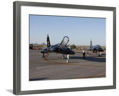 A T-38 Pilot Prepares To Taxi His Aircraft For a Training Mission-Stocktrek Images-Framed Photographic Print