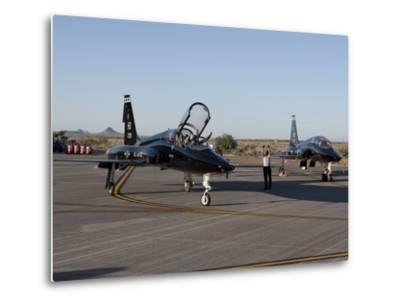 A T-38 Pilot Prepares To Taxi His Aircraft For a Training Mission-Stocktrek Images-Metal Print