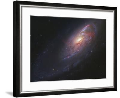 M106, Spiral Galaxy in Canes Venatici-Stocktrek Images-Framed Photographic Print