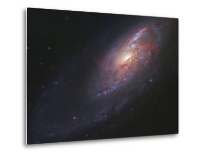 M106, Spiral Galaxy in Canes Venatici-Stocktrek Images-Metal Print