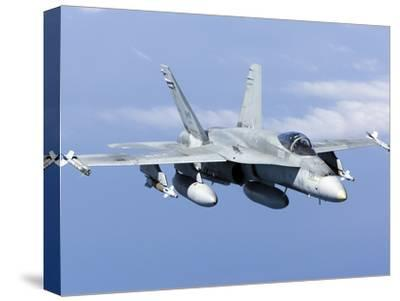 A CF-188A Hornet of the Royal Canadian Air Force-Stocktrek Images-Stretched Canvas Print